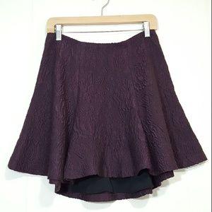 Alice + Olivia Sibel high low skirt plum size 8